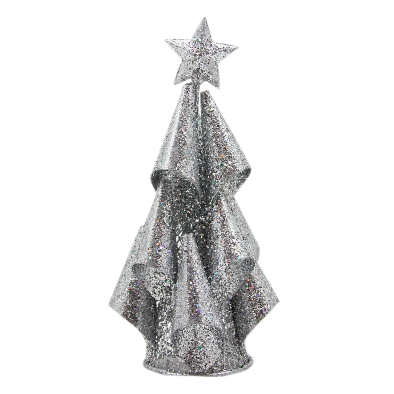 Елка из проволоки, 15см, серебро (001309-1)