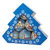Набір ялинкових іграшок - кулі Сніговик і Олень, 6 шт, D7,5 см, різнокольоровий, пінопласт, папір (420056-4), фото 2