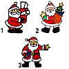 Новогоднее украшение - наклейка на окно Дед Мороз с елкой, 15*15 см, разноцветный, ПВХ (160050-2), фото 2