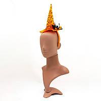Карнавальная шляпа с обручем на Хэллоуин с тыквами, 12,5*33 см (462643)