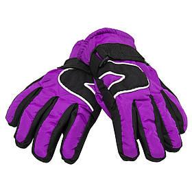 Детские перчатки, лыжные, фиолетовые 21 см (517113)