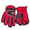 Водоотталкивающие детские лыжные перчатки, размер 13, красный, плащевка, флис, синтепон (517090), фото 2