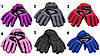 Водоотталкивающие детские лыжные перчатки, размер 13, красный, плащевка, флис, синтепон (517090), фото 3
