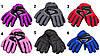 Водоотталкивающие детские лыжные перчатки, размер 13, черный, плащевка, флис, синтепон (513658-5), фото 3