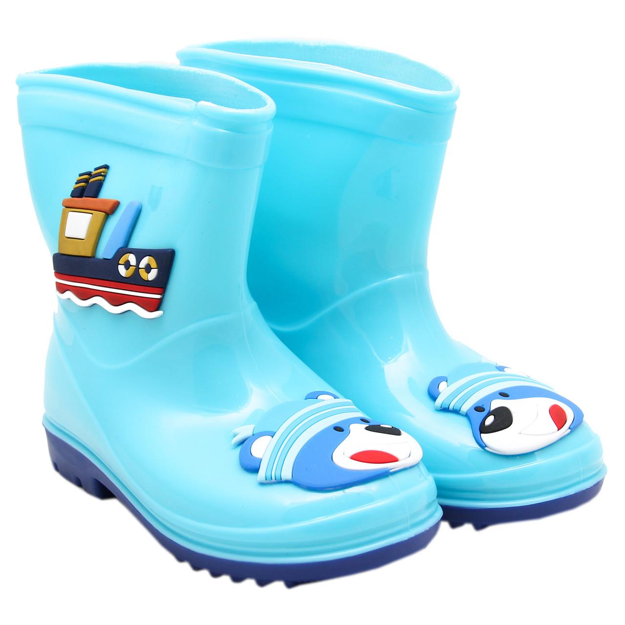 Дитячі гумові чоботи, блакитні, розмір 26 (16 см) (513795-4)