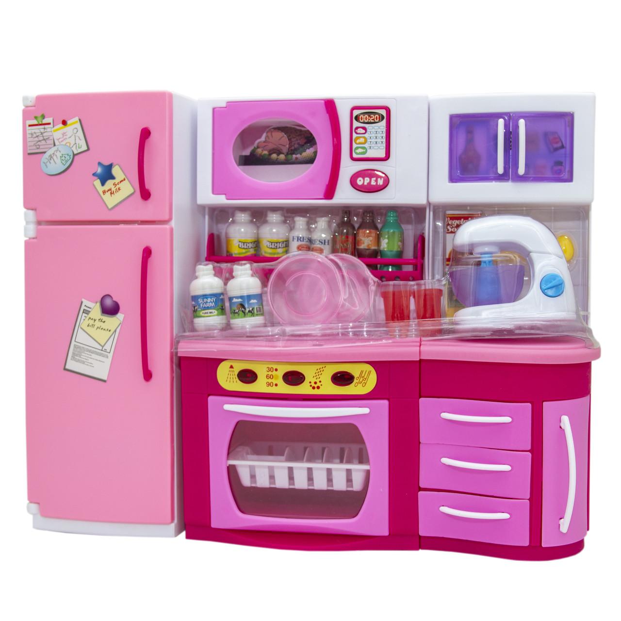 """Кукольная кухня """"Родной Дом""""-2, розовая, 37x11,5x28,5см (2803S)"""