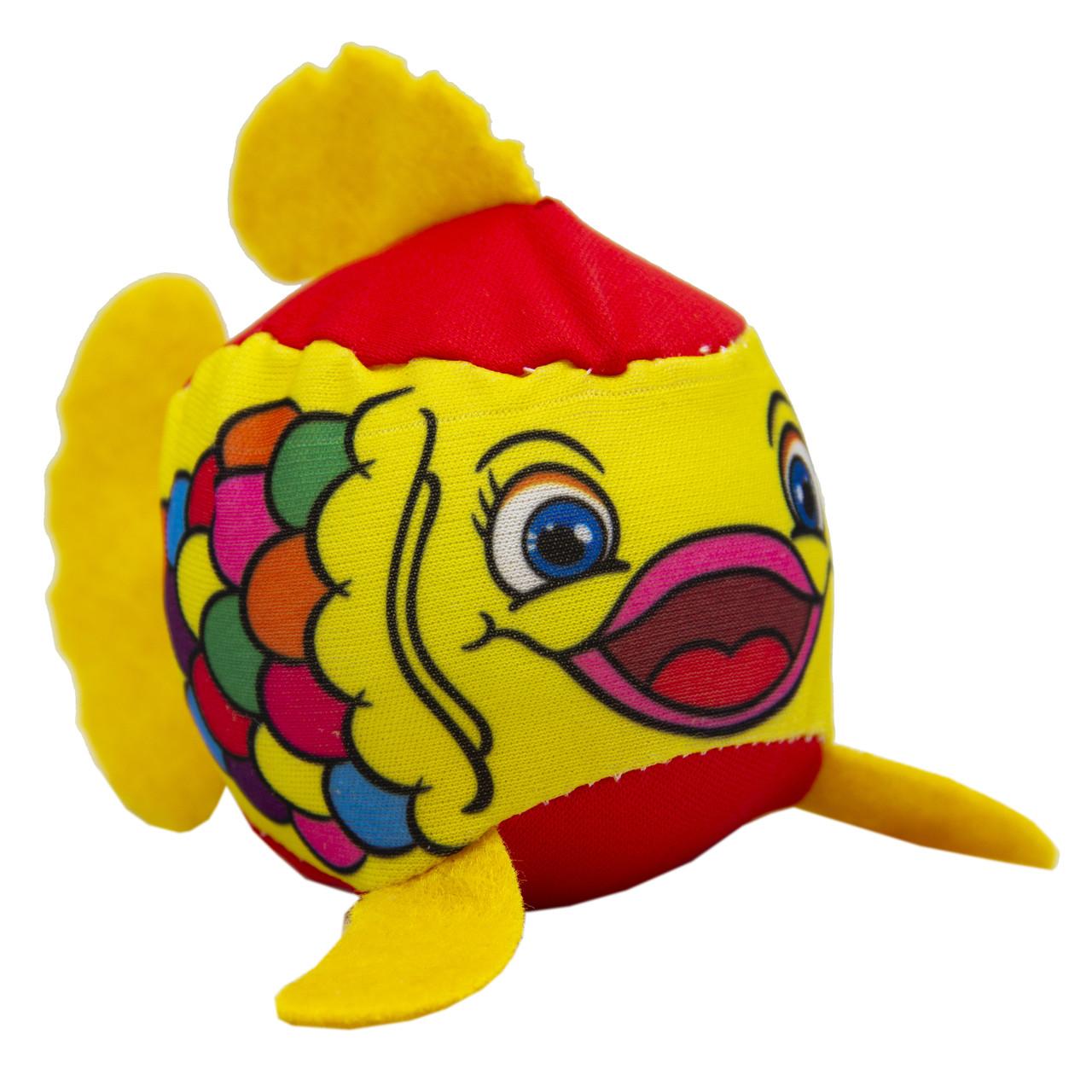 Рыбка мягкая для игры в воде, в сетке, Желтая (DPS12759)