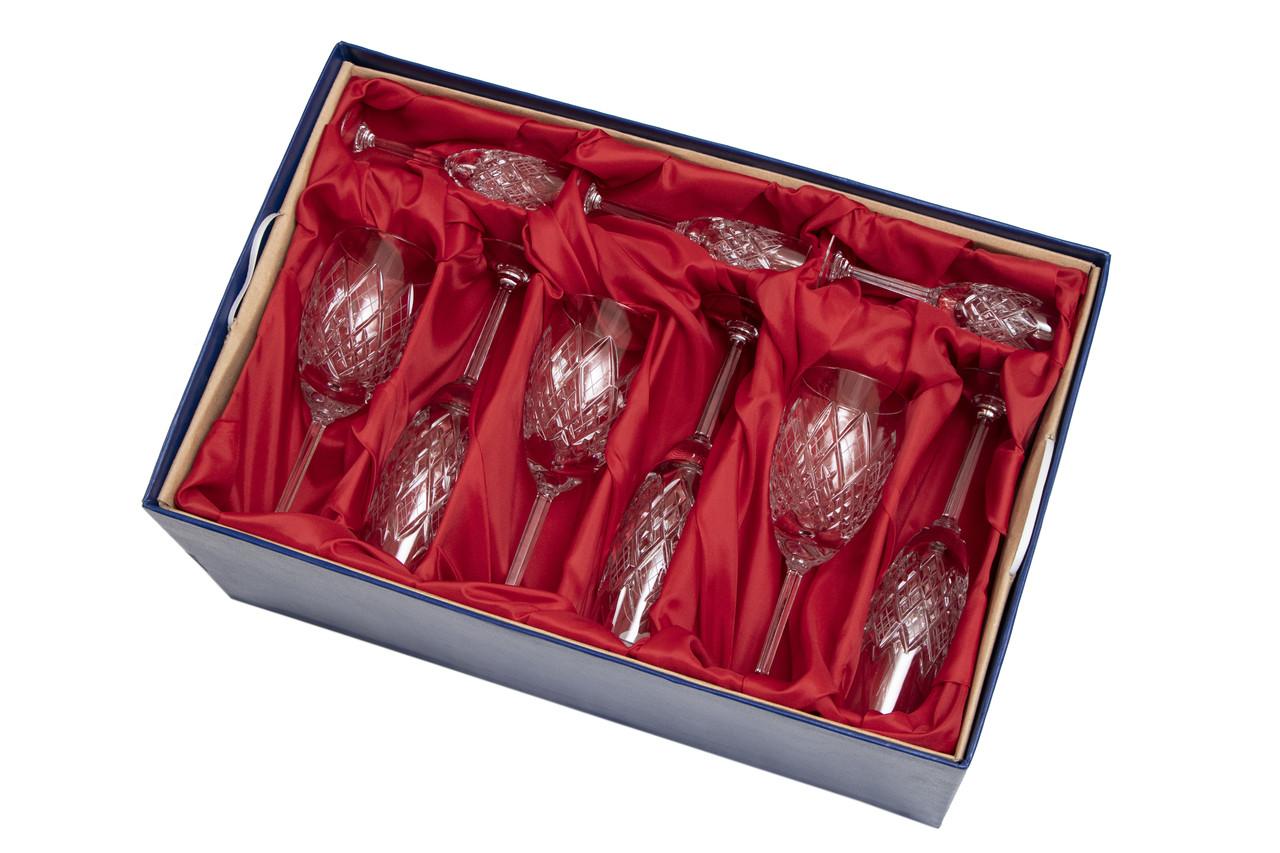 Хрустальный набор посуды Neman в подарочной упаковке с тканью, 18 ед. (9356)