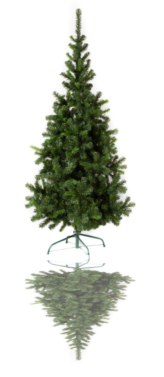 Ялинка штучна - Ніка, 150 см, з 2 частин, пластикова ніжка, ялинка, зелений, ПВХ (НМ-150)