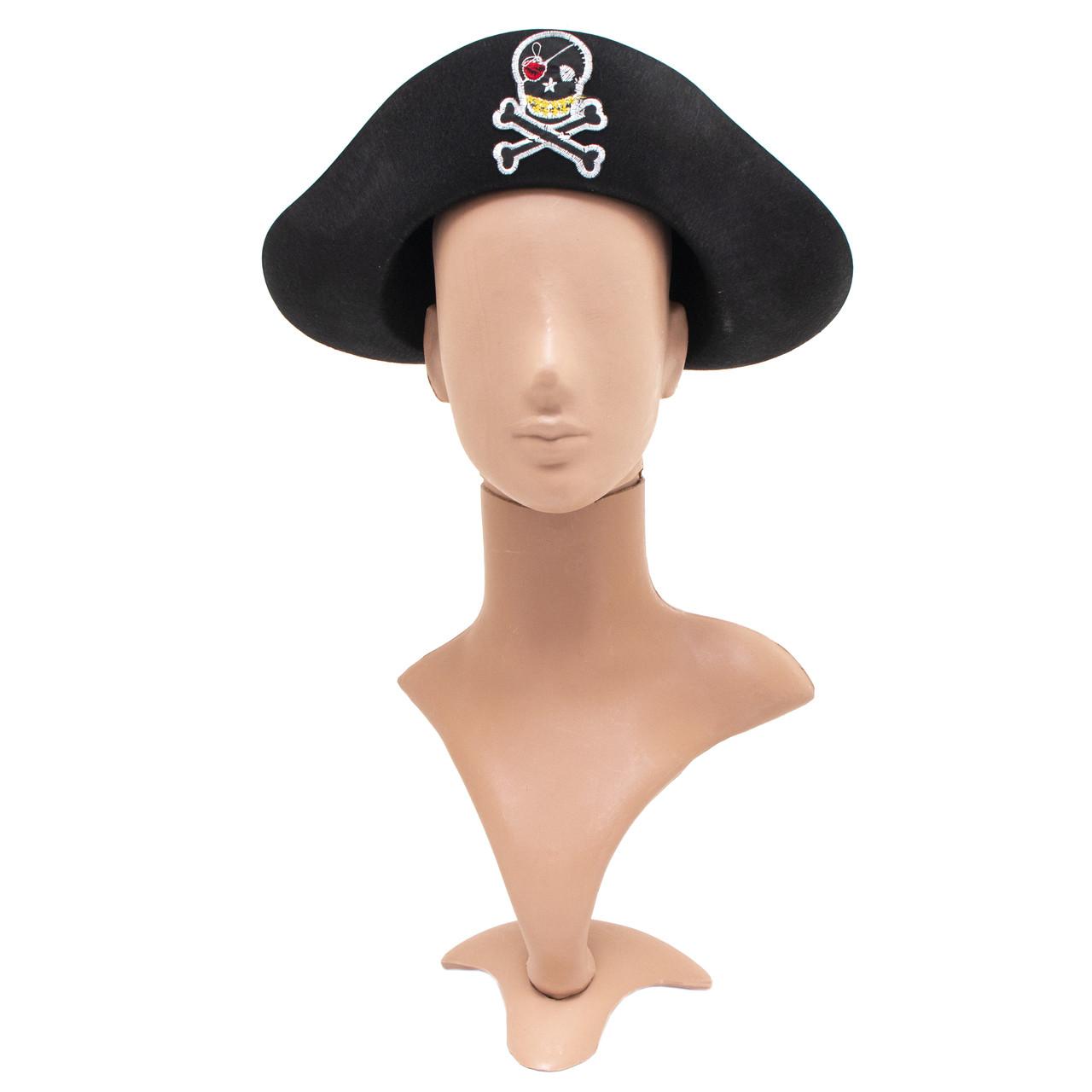 Фетровая шляпа пиратская 58-60 см (460212)