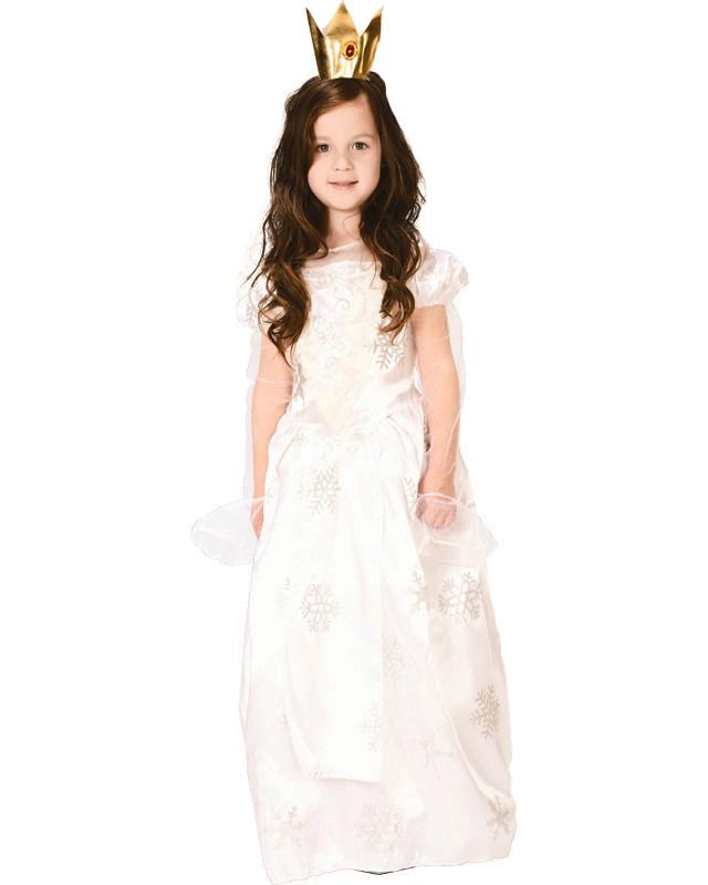Костюм детский карнавальный принцесса, рост 92-104 см, белый (CC288A)