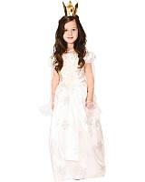 Костюм детский карнавальный принцесса, рост 92-104 см, белый (CC288A), фото 1