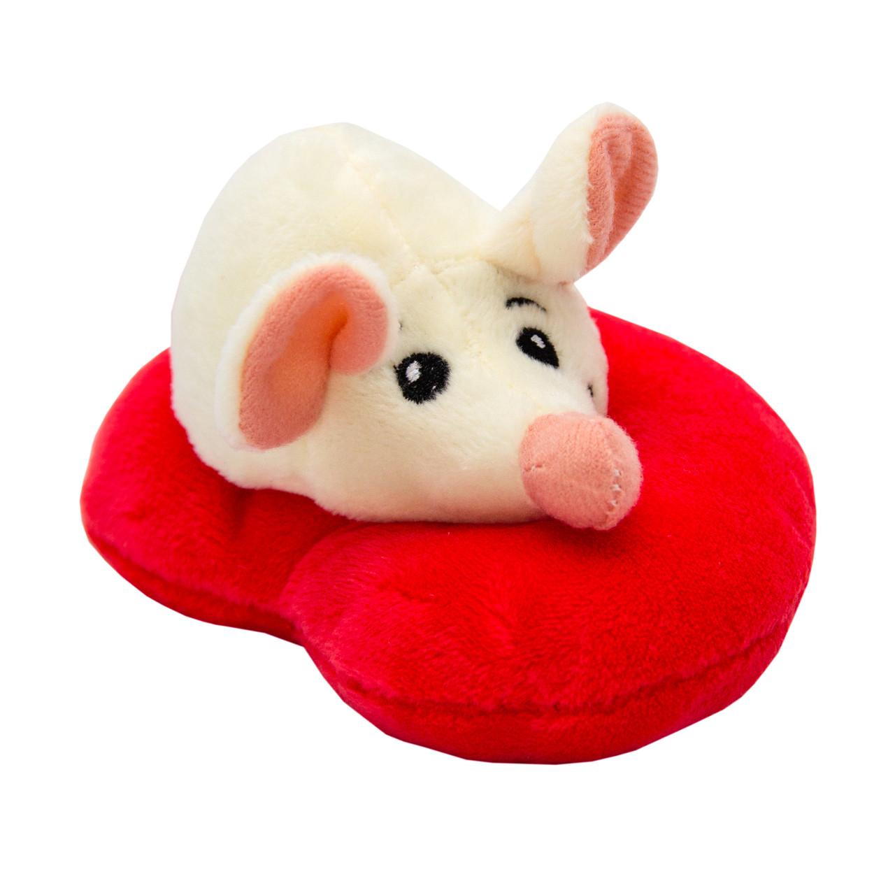 Мягкая игрушка - крыса с сердечком, 12 см, бежевый, полиэстер (M1819712A-1)