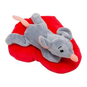 М'яка іграшка ЩУР з сердечком Символ 2020 Року, 19 см, сіра.