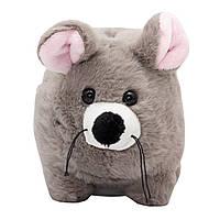 Мягкая игрушка - копилка мышка, 20 см, серый, плюш (X1807820)