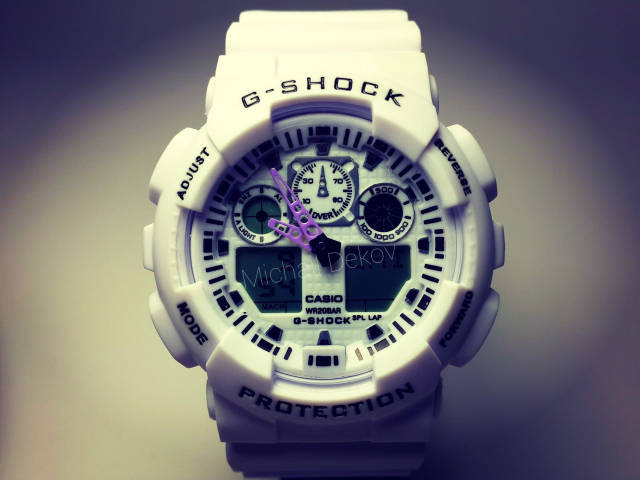 ЧАСЫ CASIO G-SHOCK GA-100   white