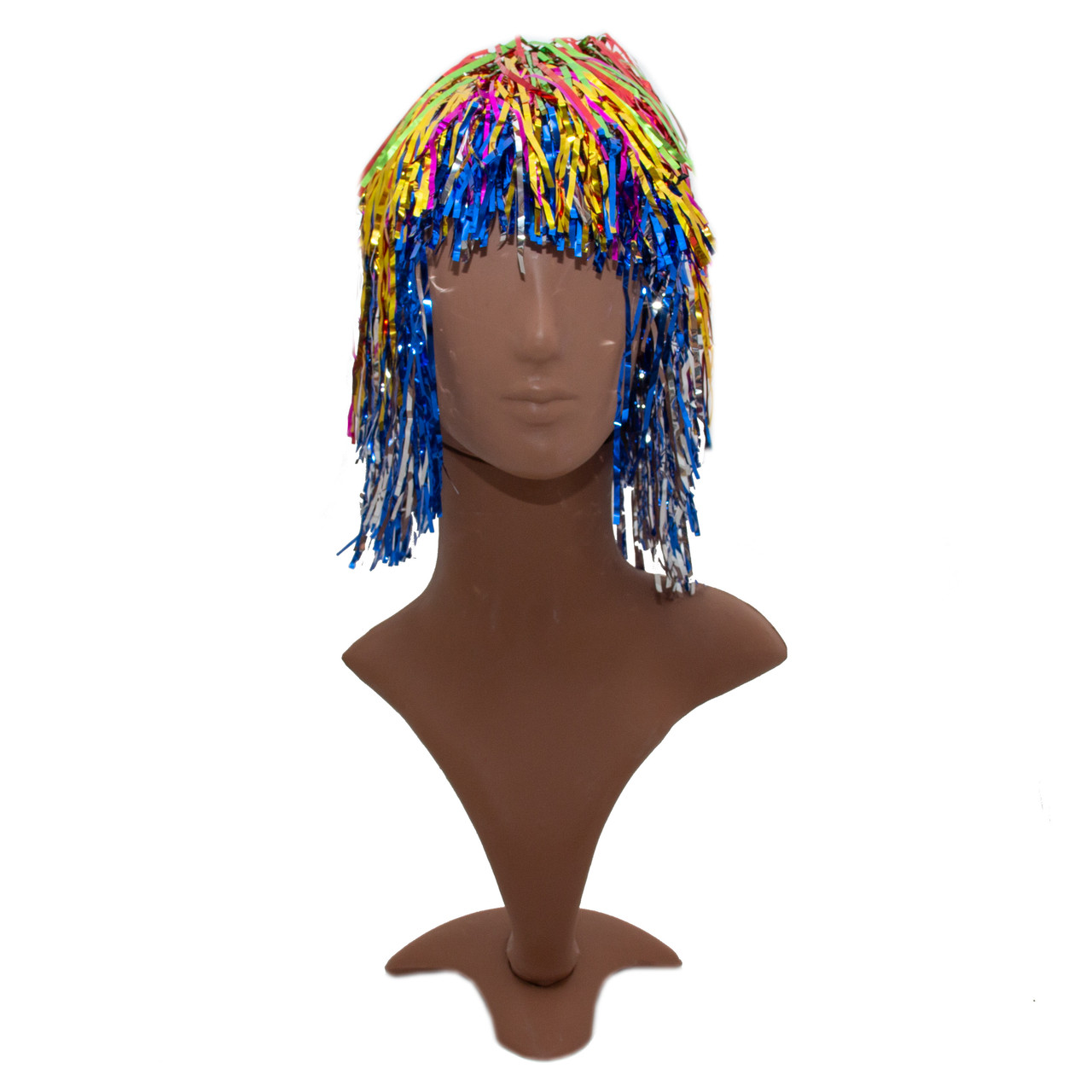 Парик карнавальный, 32-35 см, разноцветный, ПВХ (462230-2)