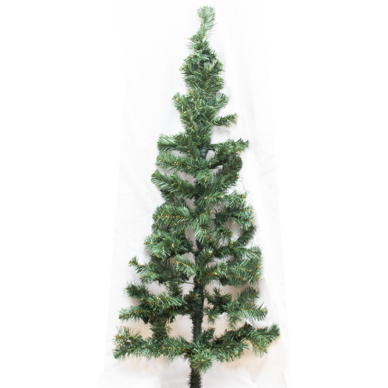Ялинка штучна - Моніка, 150 см, настінна без ніжки, з 2 частин, ялинка, зелений, ПВХ (ММС-150)
