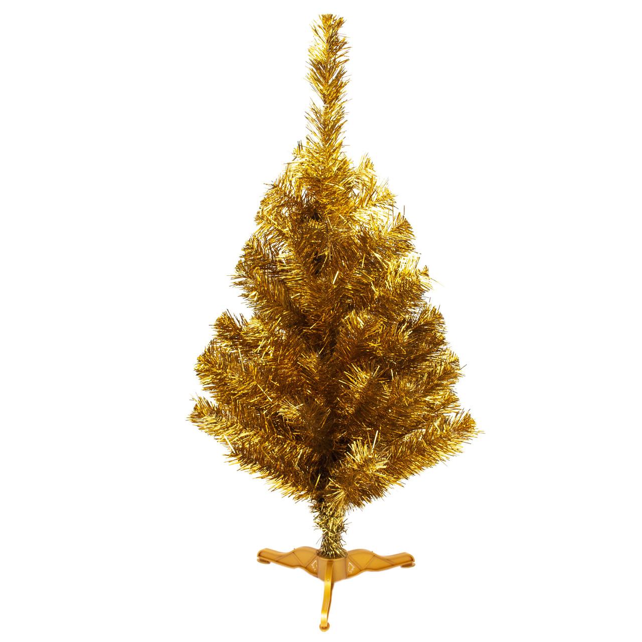 Ялинка штучна новорічна 90 см, золотистий, густа, ПВХ (МАГ-90/3)