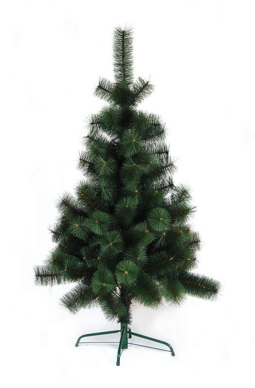 Сосна искусственная - Беата, 120 см, пластиковая ножка, сосна, зеленый, леска (БМ-120)