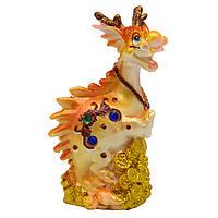 Фигурка сувенирная Дракон передние лапы вверх, 6,9х4,6х10,6см (441273-1)