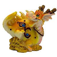 Фигурка сувенирная Дракон, задние лапы вверх и хвост прижат, 7,7*4,8*8см (441259-4)