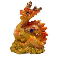 Фигурка сувенирная Дракон, лапы не видны и хвост поджат, 6см (441532-2)
