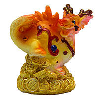 Фигурка сувенирная Дракон, задние лапы вниз и хвост прижат, 6см (441532-4)