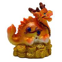 Фигурка сувенирная Дракон, на четырех лапах и хвост вверх, 6см (441532-5)