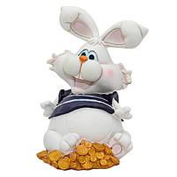 Фигурка сувенирная Кролик-копилка опущена лапа, 16,5 см (440375-2)
