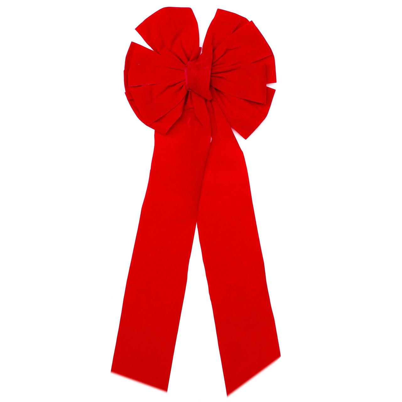 Ялинкова прикраса - бантик, 1 шт,  30*10 см, червоний, текстиль (471058-3)