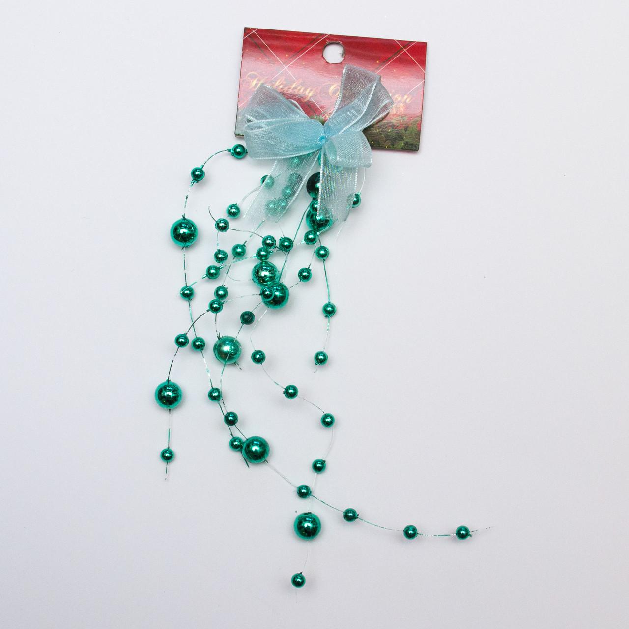 Новогоднее украшение - подвеска гроздь, 20 см, зеленый, пластик (001279-6)