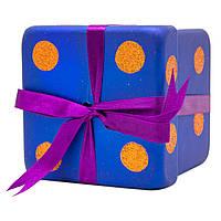 Подарок с бантом матовый 10см, пластик, темно-синий (110247-4)