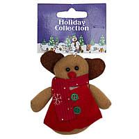 Мягкая игрушка сувенирная, красный олень, 9см (000388-2)