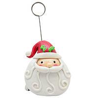 Сувенирные фигурки - держатель визиток, Дед Мороз с волнистой бородою 11,5см (001347-4)
