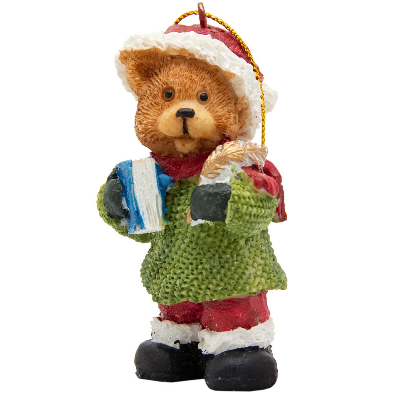 Фигурка сувенирная из полистоуна, h-7 см, медведь с книгой (000333-11)