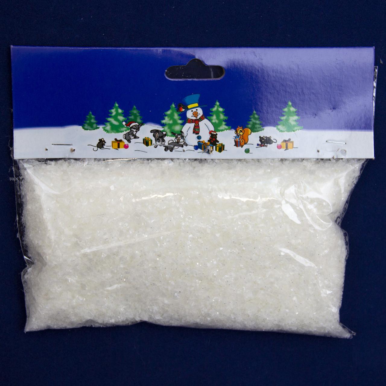 Штучний сніг, 1 упаковка, 60 г, важкий з золотистим глітером, PET (201364)