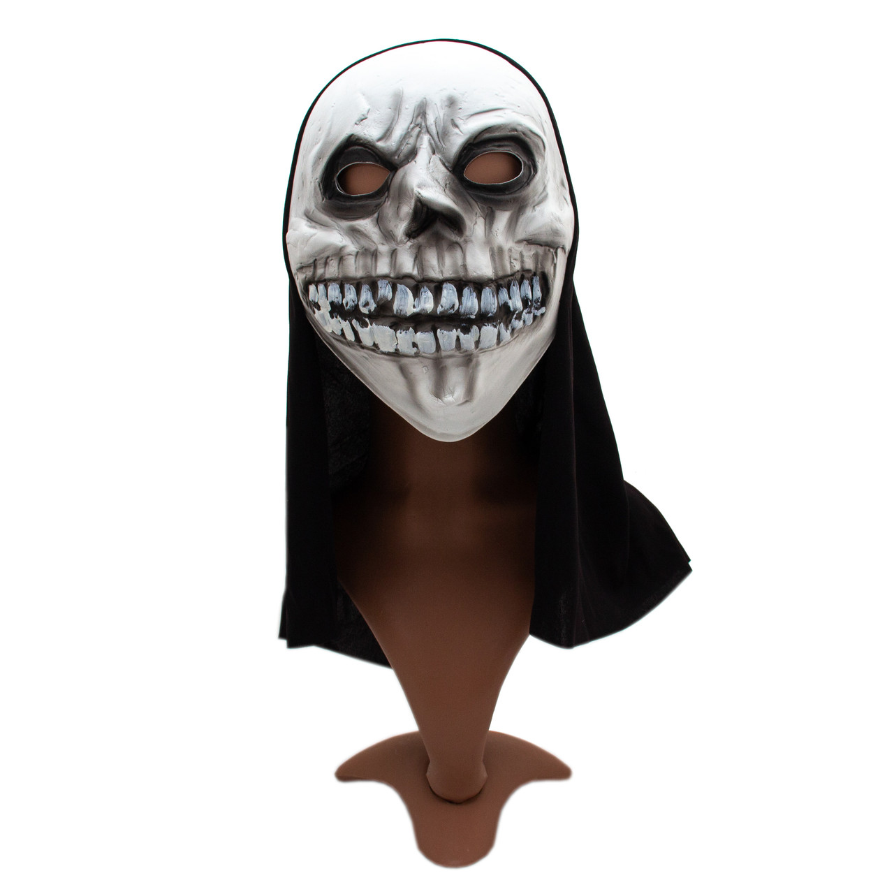 Карнавальна маска Череп, 20*38 см, поліестер, білий (462544)