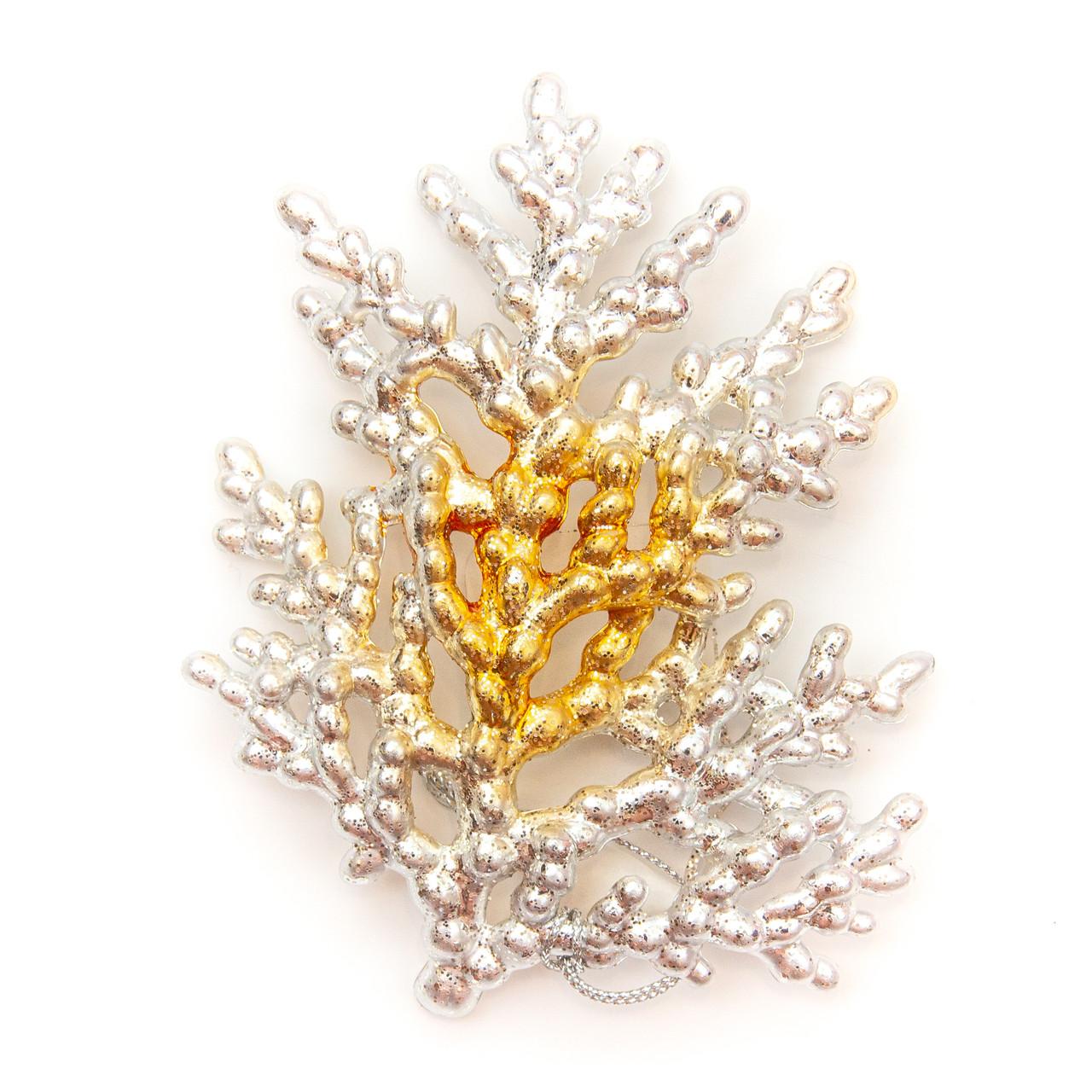 Елочное украшение Коралл, золото, 12 см ( 110827)
