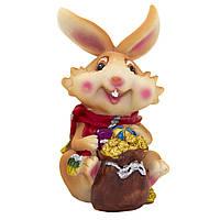 Фигурка сувенирная Кролик с шарфом, с мешкой (440252-2)