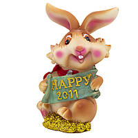 Фигурка сувенирная Кролик с шарфом, с HAPPY 2011 (440252-4)