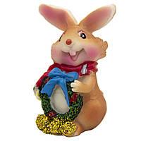 Фигурка сувенирная Кролик с шарфом с синим бантом, 3см (440238-1)