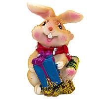 Фигурка сувенирная Кролик с шарфом, с подарком, 3см (440238-4)