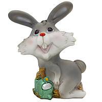 Фигурка сувенирная Кролик-копилка с поездом, 14см (440405-3)