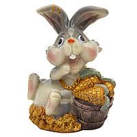 Фигурка сувенирная Кролик морковка в ведре золота, 7,5см (440672-1)
