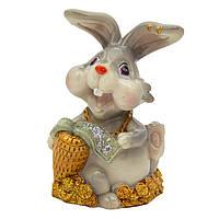 Фигурка сувенирная Кролик морковка велика золота, 7,5см (440672-3)