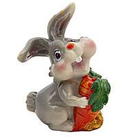 Фигурка сувенирная Кролик морковка большая красная, 7,5см (440672-4)