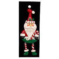 Елочная игрушка Фигурка резиновая на подвеске, 13см, Дед Мороз с тростью (001583-1)