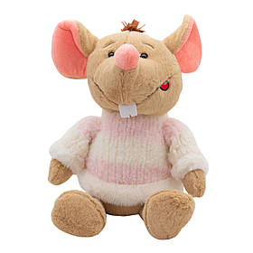 М'яка іграшка ЩУР у светрі біло-рожевому Символ 2020 Року, 29 див. (M1810029B-1)