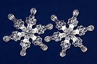 Набор акриловых снежинок, 2шт*11,5 см (200589)